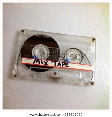 Instagram filtered image of a mix tape cassette  - stock photo