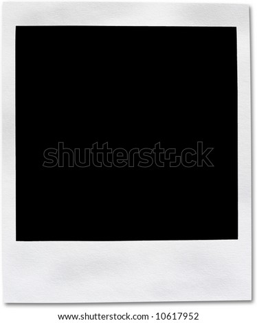 Instant camera frame. Used look. Light paper texture. - stock photo