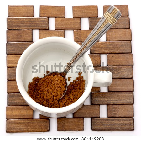 Instant coffee in cup - stock photo