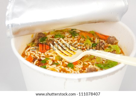 Instant noodle - stock photo