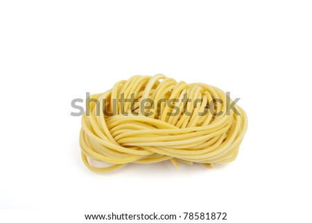 Instant noodle rolled, A closeup of Chinese dried noodle rolled. - stock photo