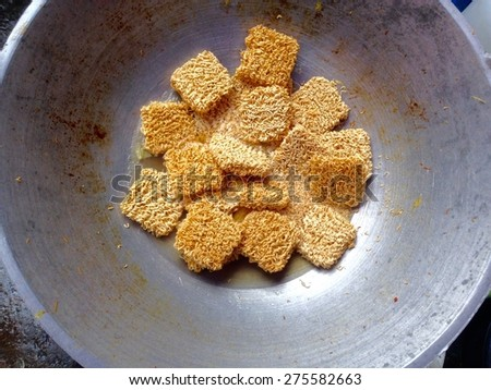 Instant noodles in pan  - stock photo
