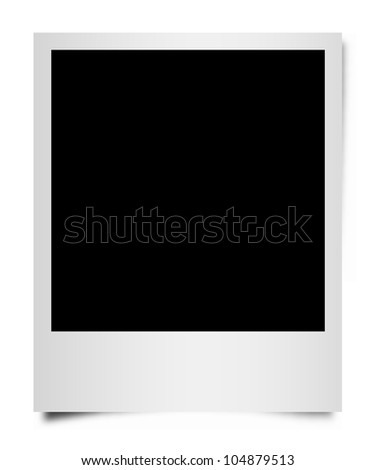 Instant Photo Frame. - stock photo