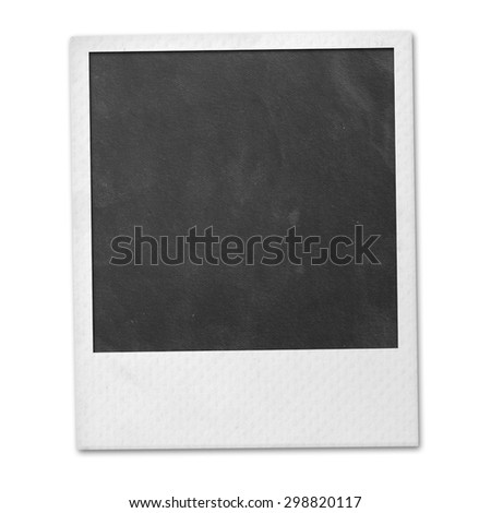 Instant photo isolated. Polaroid photo. - stock photo