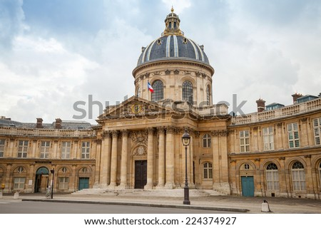 Institute de France in Paris. Architect Louis Le Vau, was made between 1662 and 1688 - stock photo