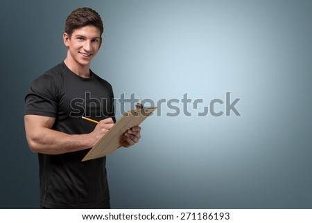 Instructor. Personal Fitness Trainer - stock photo