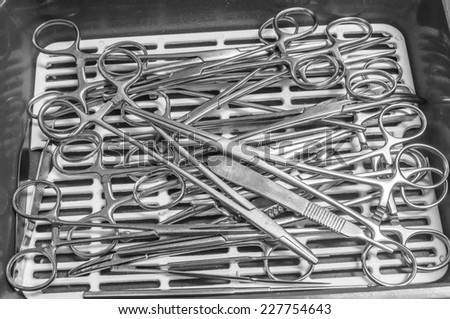 instruments for surgery - stock photo