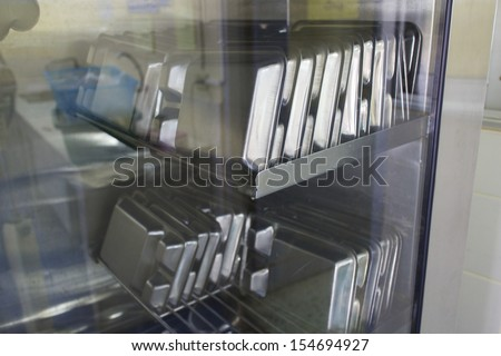 Instruments in the operating room - stock photo