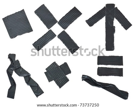 Insulating tape slices isolated on white background - stock photo