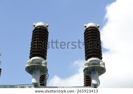 Insulation and switches - Components of the transformer - stock photo