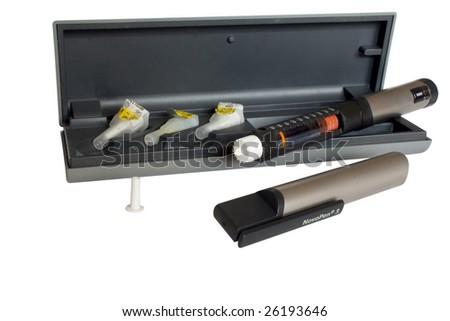 Insulin injector - stock photo