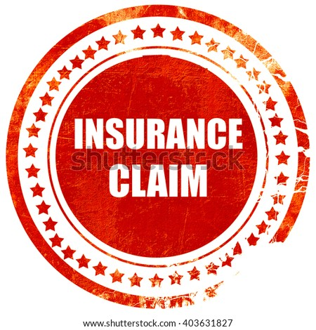 insurance claim, grunge red rubber stamp on a solid white backgr - stock photo