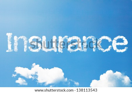 insurance cloud word - stock photo