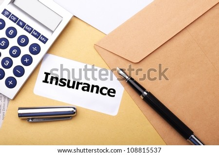 insurance concept with envelope showing risk concept - stock photo