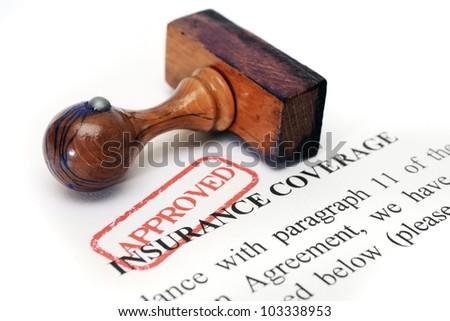 Insurance coverage - stock photo