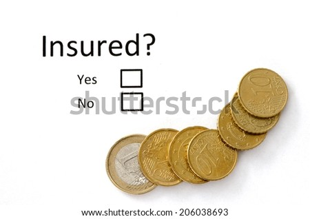 Insurance or risk business concept and cash. - stock photo