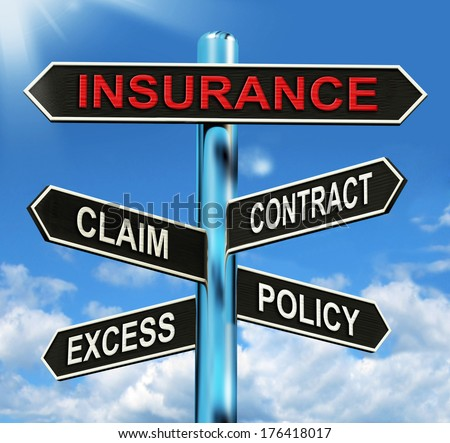 Insurance Signpost  - stock photo