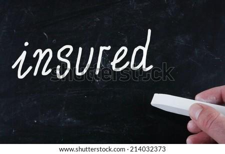 insured concept - stock photo
