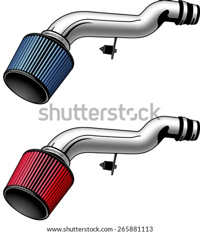 Intake system air filter - stock photo