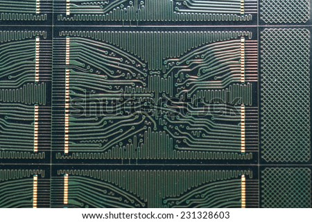 integrated circuit board  - stock photo