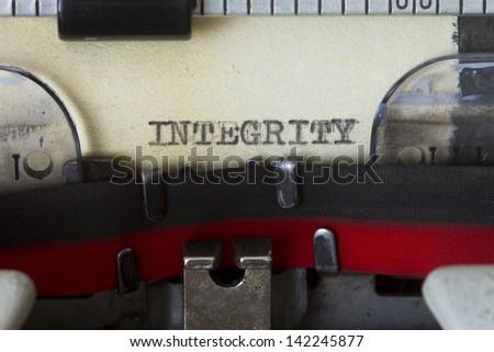 Integrity - stock photo
