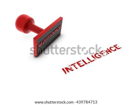intelligence stamp - 3D illustration - stock photo