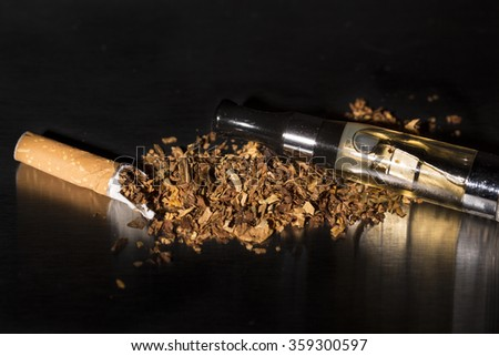 Intenational day : do not smoke today, May 31 - 2016 Broken cigarette tobacco stop smoking, with drug. Treatment addiction - stock photo