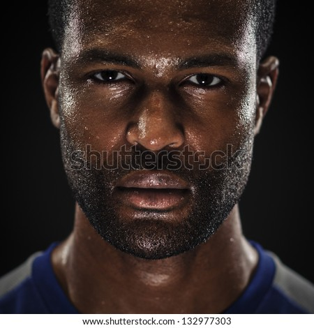 Intense Athlete Portrait - stock photo