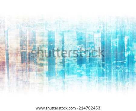 Intensive blue artistic linear background on white. - stock photo