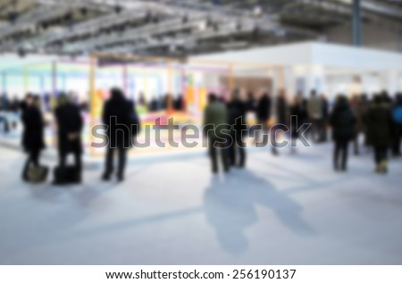 Intentionally blurred editing post production. Humans, location and products not recognizable. - stock photo