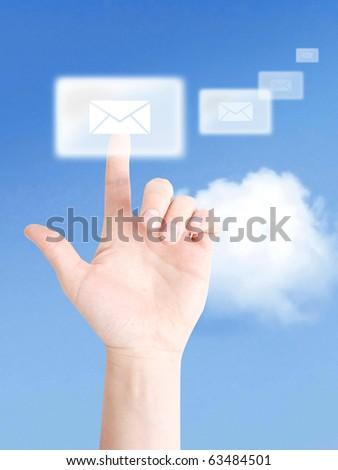 Interactive communication - stock photo