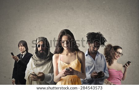 Intercultural connections - stock photo