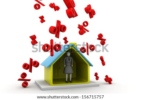 Interest Rates on House - stock photo