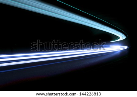 Interesting and abstract lights in blue that can be used as background or texture - stock photo