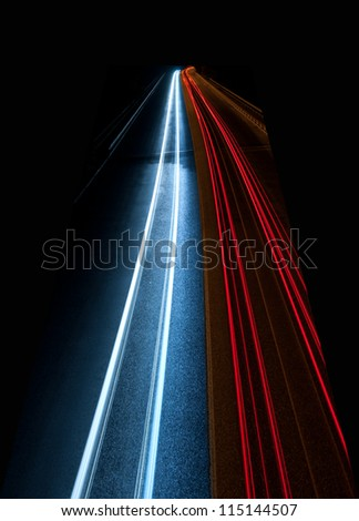 Interesting and abstract lights in red and blue that can be used as background or texture - stock photo
