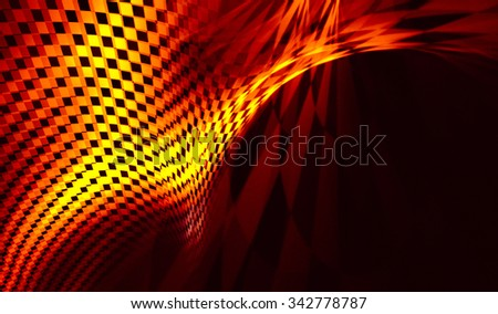 Interesting contrast geometric abstraction of black, red and gold. Blurry textures. It contains elements of the checkered flag, suitable for design of the categories of speed, racing, rally, sports - stock photo