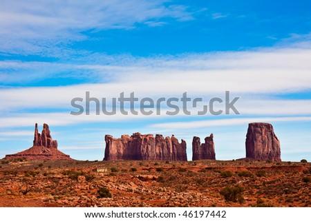 Interesting Rock Formations near Monument Valley, Arizona. - stock photo