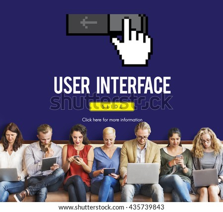 Interface UI Computer Cursor Icon Concept - stock photo