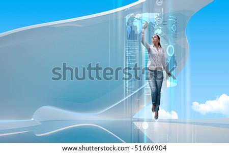Interfaces collection - Portal to the future - stock photo