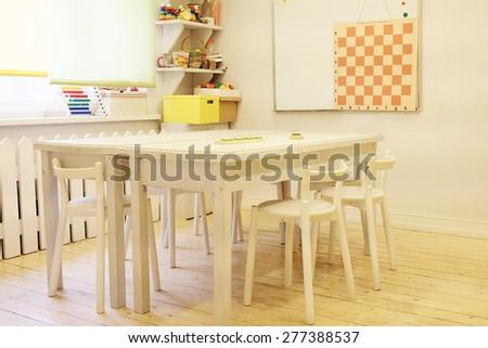 Interior classroom in the children's educational center - stock photo