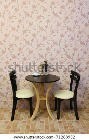 interior coffee shop design. - stock photo