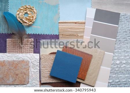 interior color design selection concept  - stock photo