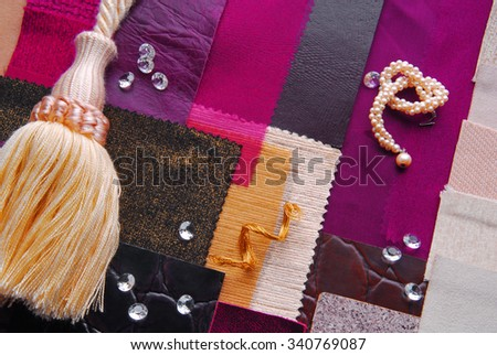 interior color design selection concept  in chic style - stock photo