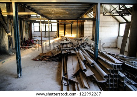 Interior construction site in downtown of Jerusalem - stock photo