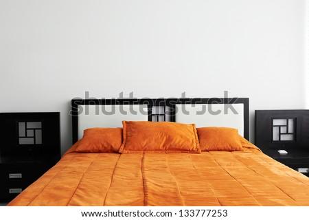Interior Design: Bedroom - stock photo