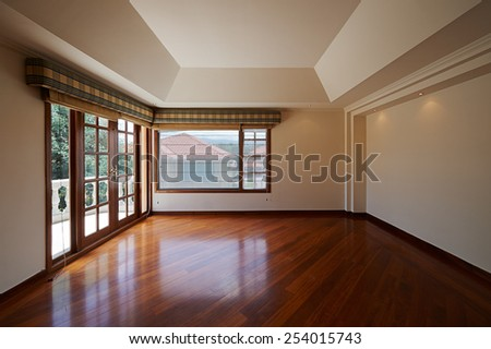 Interior design: Big empty room - stock photo