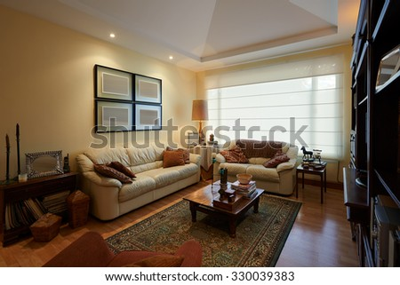 Interior design: Classic Living Room - stock photo