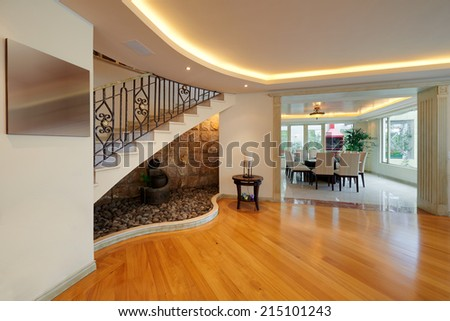 Interior design: Dining Room - stock photo