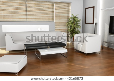 Interior Design (living room) - stock photo
