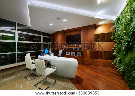 Interior Design: Modern elegant office - stock photo